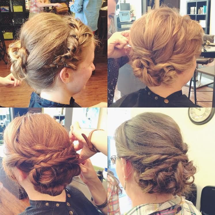 Braids + Twists Bridal Updos // Salon Nfuse Nashville, TN
