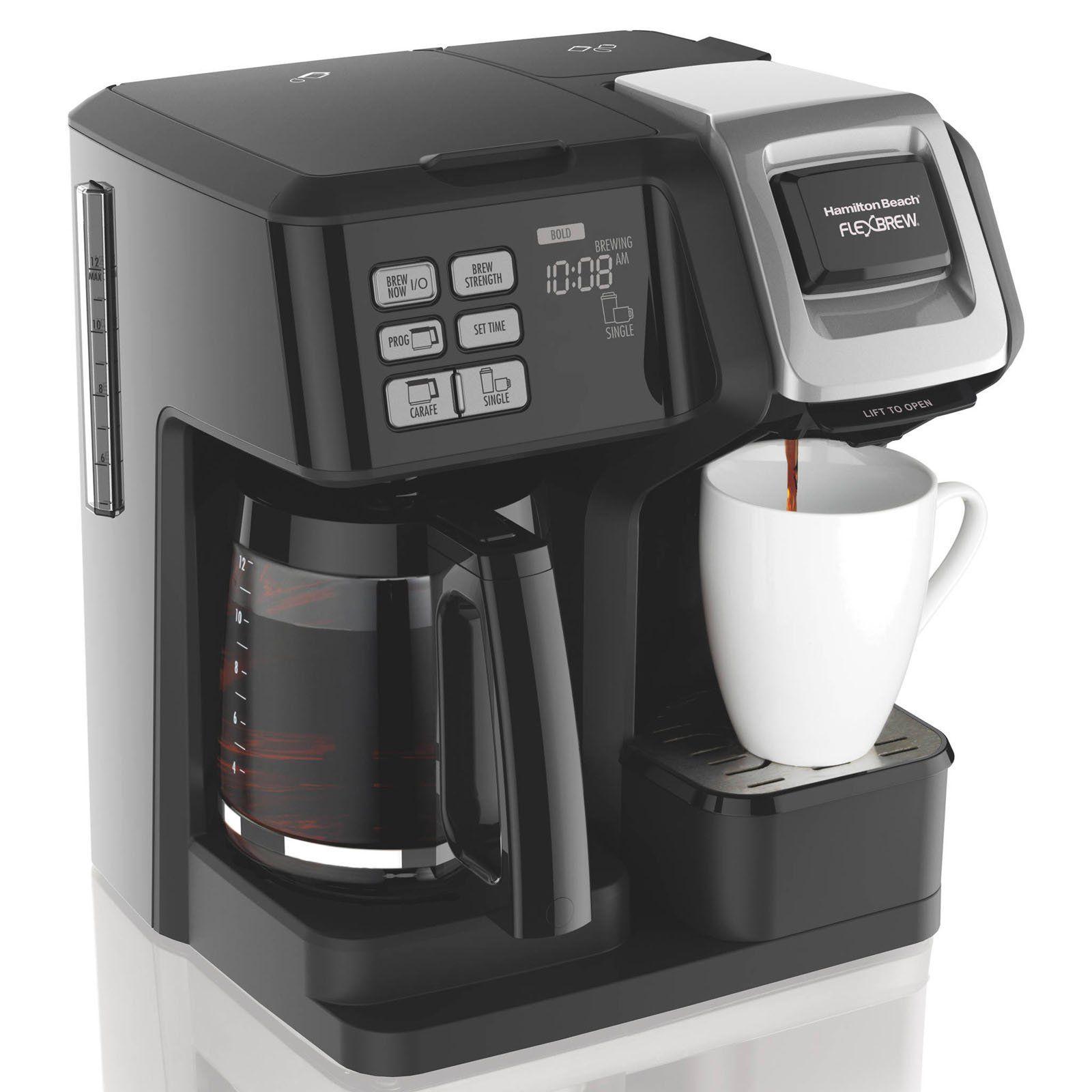 Hamilton Beach 49976 Flexbrew 2 Way Coffee Maker Coffee Maker Best Coffee Maker 1 Cup Coffee Maker