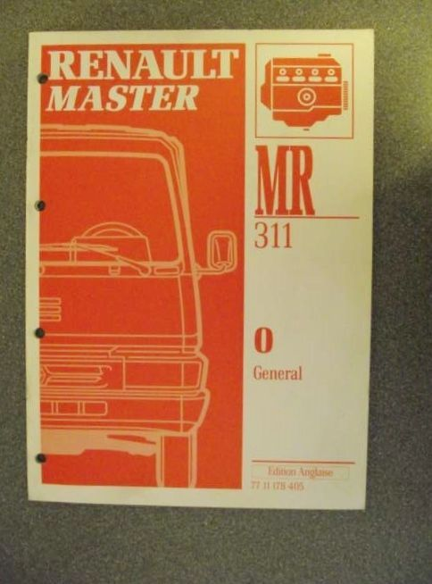 Renault master general manual 1994 mr311 7711178405 fandeluxe Gallery