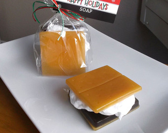 Photo of Christmas Soap – Smore Soap, Holiday Soap Gift, Stocking Stuffer, Secret Santa G…