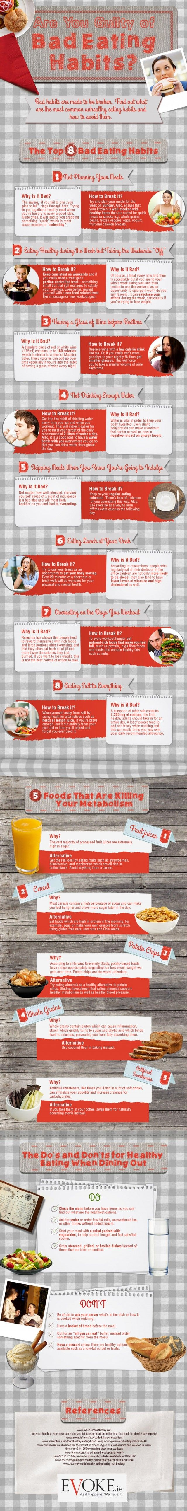 Bad Eating Habits Daily Infographicdaily Infographic Simple Health Eating Habits Healthy Lifestyle Tips