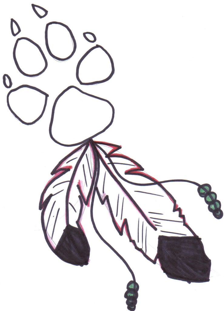 Free Coloring Pages Wolf Paw Print Bear Paw Tattoos Wolf Paw
