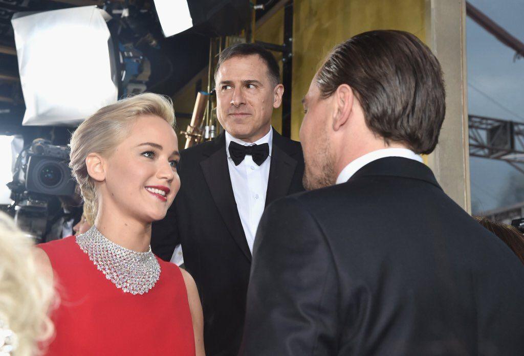 """The Hunger Games on Twitter: """"Jennifer Lawrence y Leonardo DiCaprio en los Globos de Oro. #GoldenGlobes https://t.co/1F3L4dDEfE"""""""