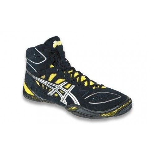 b2adcc8ad22 ASICS Dan Gable Ultimate 3 Mens Wrestling Shoe J305Y.9093  Black-Silver-Yellow