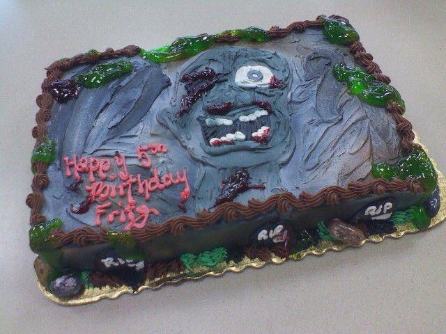 zombie sheet cakes