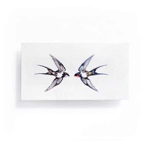 dc336c553b59d Tiny Small Fineline Watercolor Delicate Swallow Tattoo Sticker Bird  Temporary Tattoo HK Hong Kong Vintage Classic 復古美式經典水彩燕子刺青紋身 LAZY DUO ...