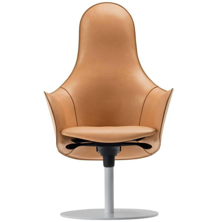 Modern Office Chairs Made In Italy Soft Full Grain Leather