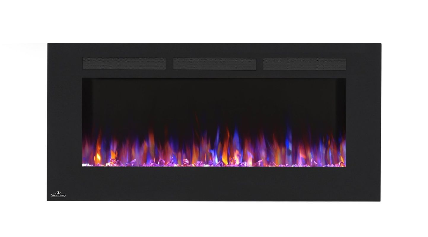wall mount electric fireplace heater. Napoleon NEFL42FH 42 Inch Wide Wall Mount Electric Fireplace With 120V Heater An Black I