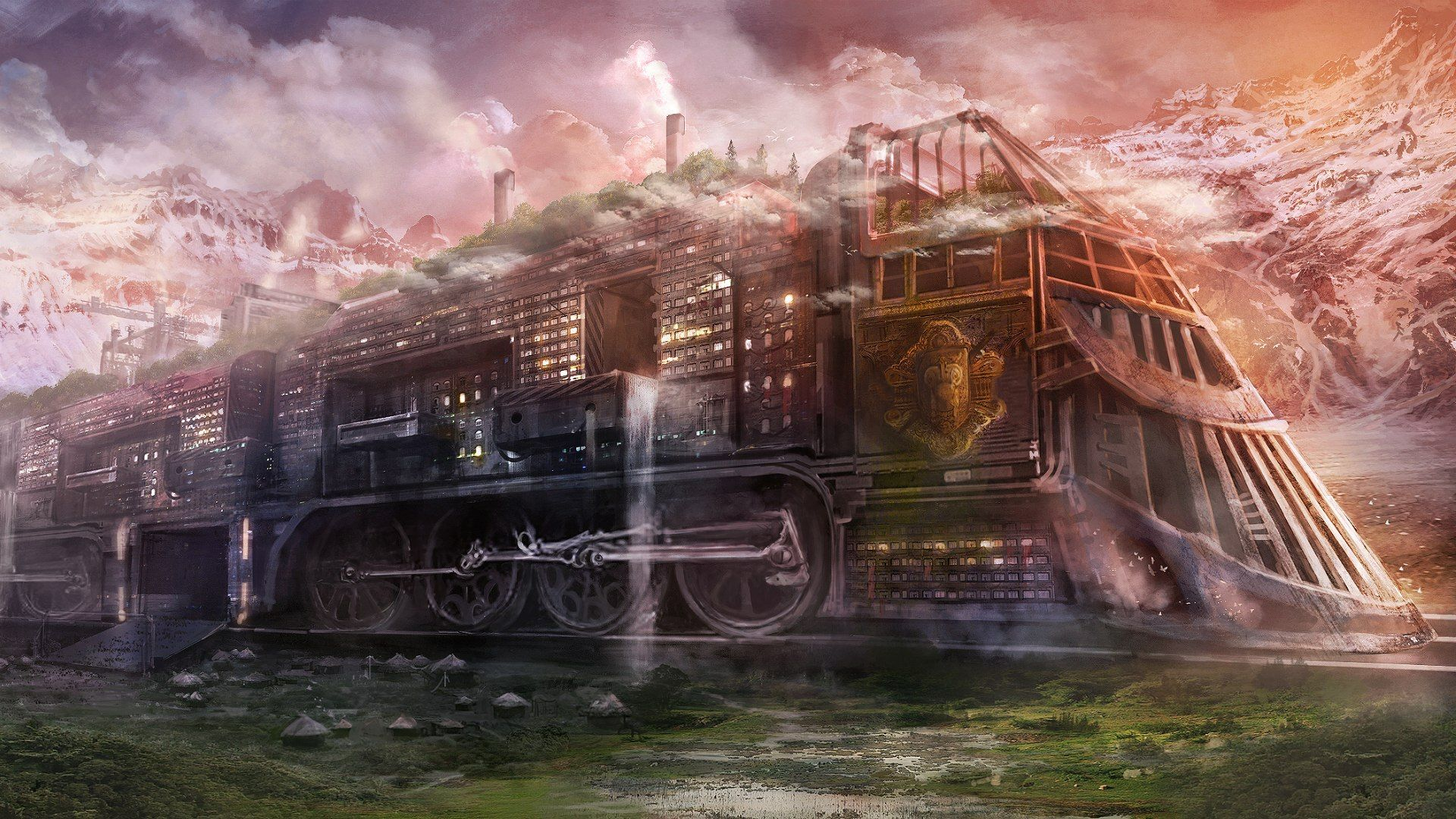 trains artwork Steam Train Art Steam train steampunk sci