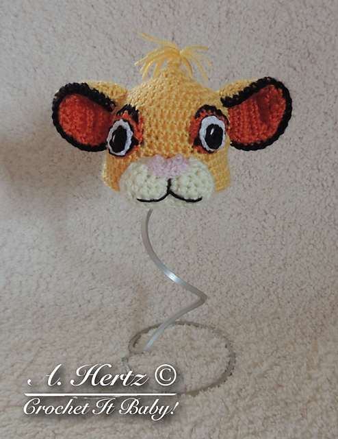 f7a1d6d12a4 Ravelry  Crochet Simba Lion King Hat Pattern (inspired by The Lion King  Movie) pattern by Crochet It Baby