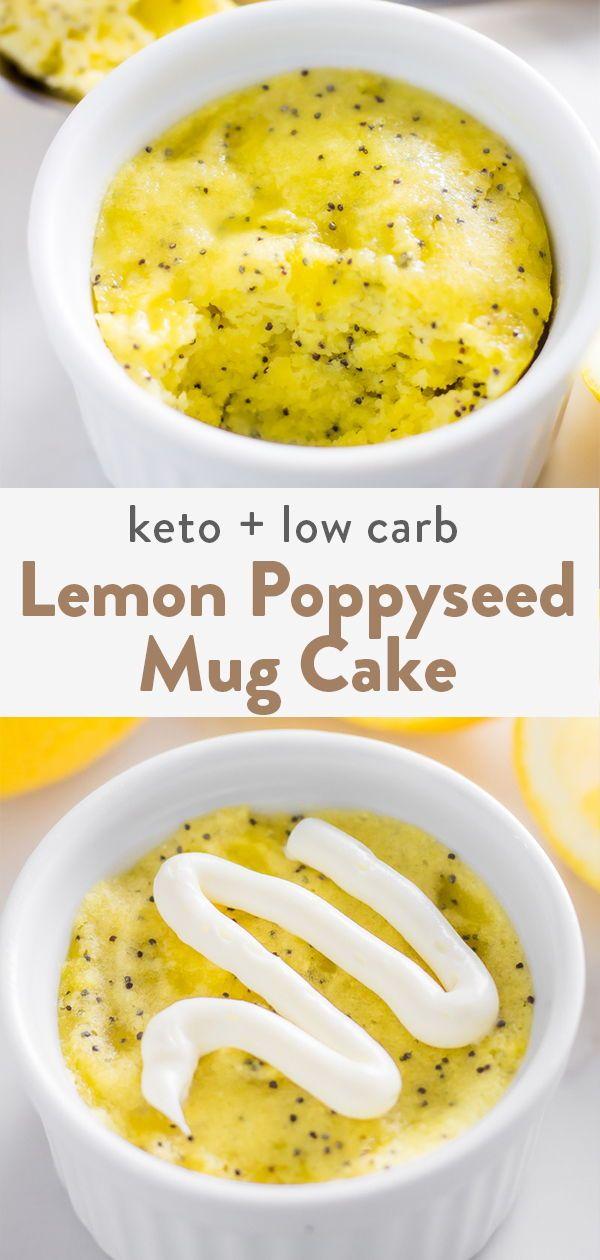 A mug cake with a mix of almond flour and coconut flour ...