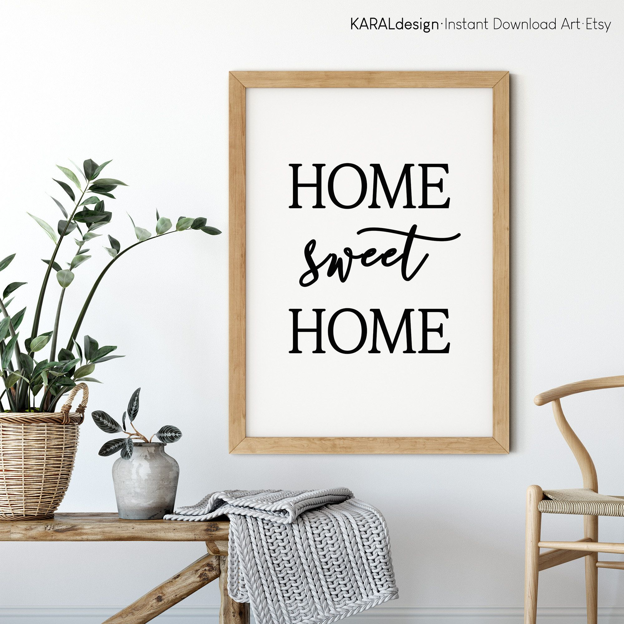 Home Sweet Home Print Home Sweet Home Printable Home Decor Etsy In 2021 Wall Art Living Room Printable Art Living Room Photo Frame Display