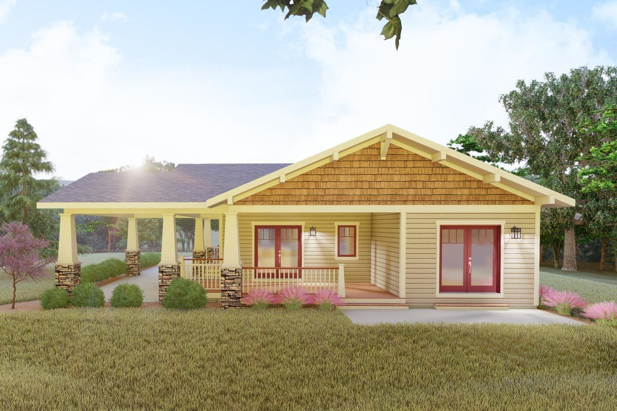 Plan 18300be Delightful 2 Bed Space Saving Bungalow House Plan Bungalow House Plans Small Cottage Plans Bungalow House Design