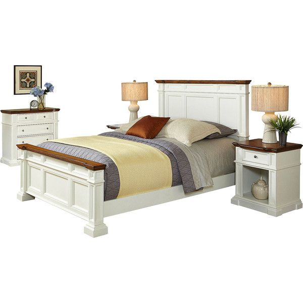 Bransford Bed, 2 Nightstands and Chest ($5,760) ❤ liked on Polyvore featuring home, furniture, beds, queen bed, shelving furniture, shelves furniture, shelf furniture and shelf bed