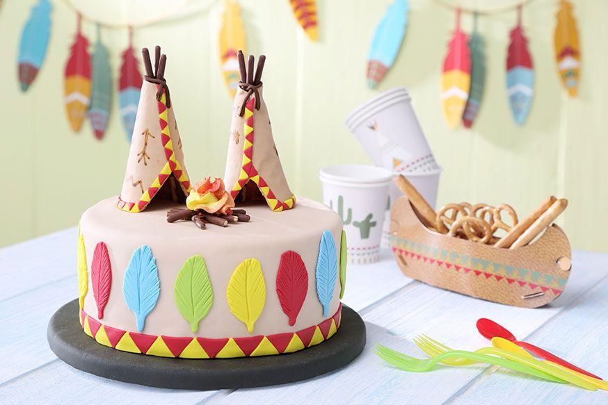 Ob Pow Wow Oder Kindergeburtstag, Mit Diesem Kuchen Beeindrucken Sie Alle  Indianer. U2022 Foto