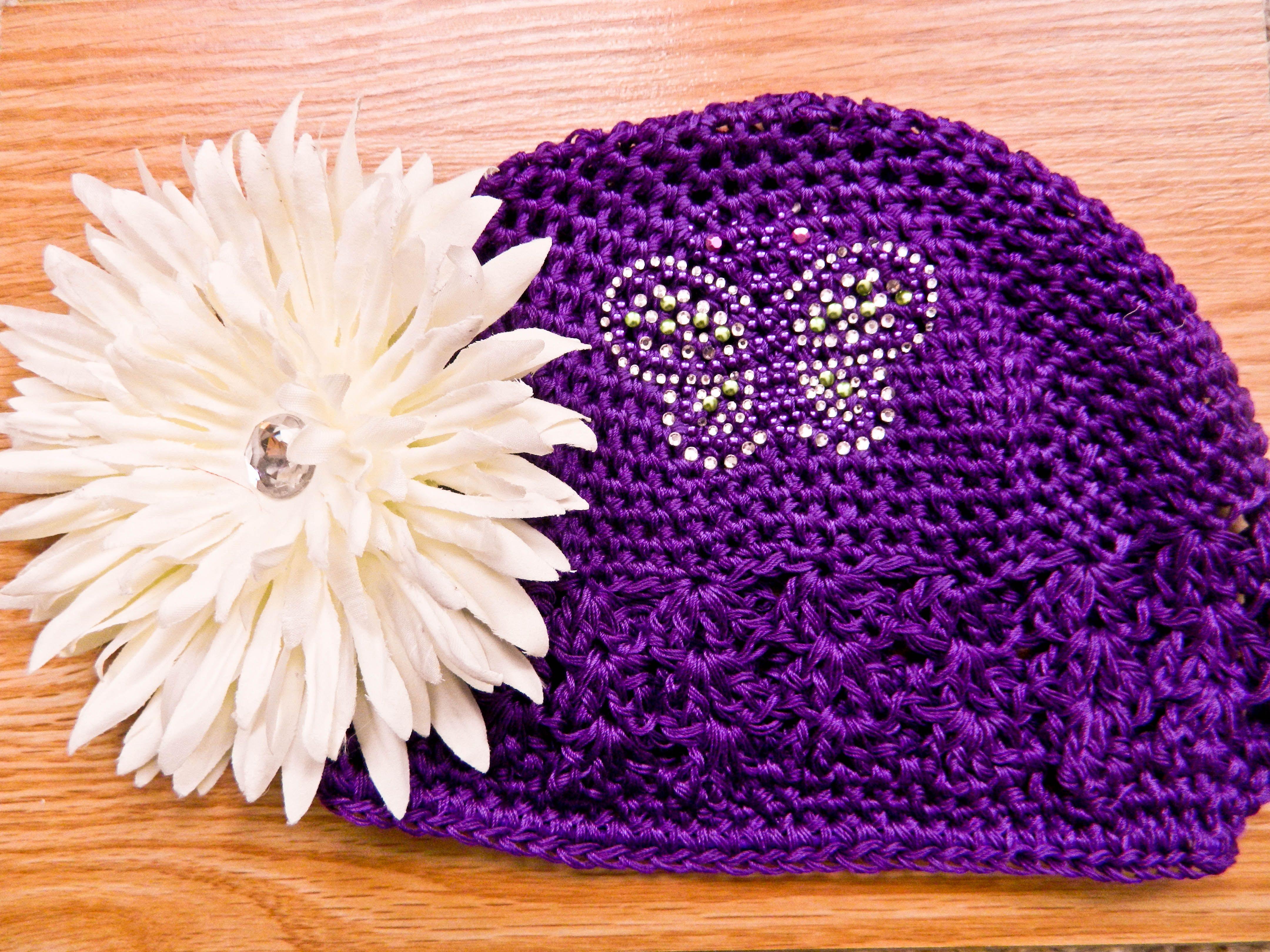 Hot Pink & Black Nagorie Feather Crochet Headband