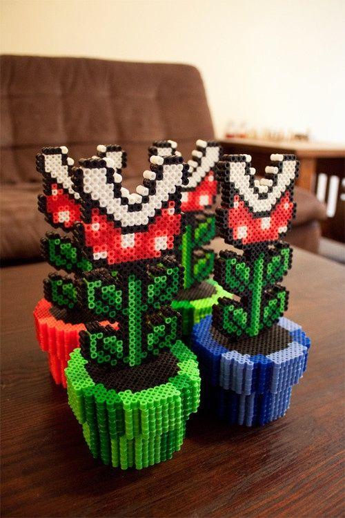 Super Mario - Fleischfressende Pflanzen | Bügelperlen ...