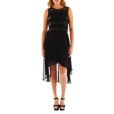 Bisou Bisou® Sequin Lace High-Low Dress - JCPenney