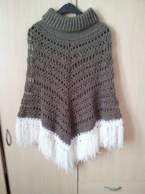 Crochet Poncho With Cowl Neck Free Poncho Pattern Form Httpwww Stunning Crochet Poncho Pattern Ravelry