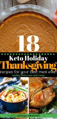 On a keto diet and not sure what to eat this holiday season? Look no further! Youll find all the healthy recipes you need for the best Thanksgiving dinner ever. These low carb and keto recipes will satisfy everyone at your next holiday meal.#thanksgivingrecipe  On a keto diet and not sure what to eat this holiday season? Look no further! Youll find all the healthy recipes you need for t