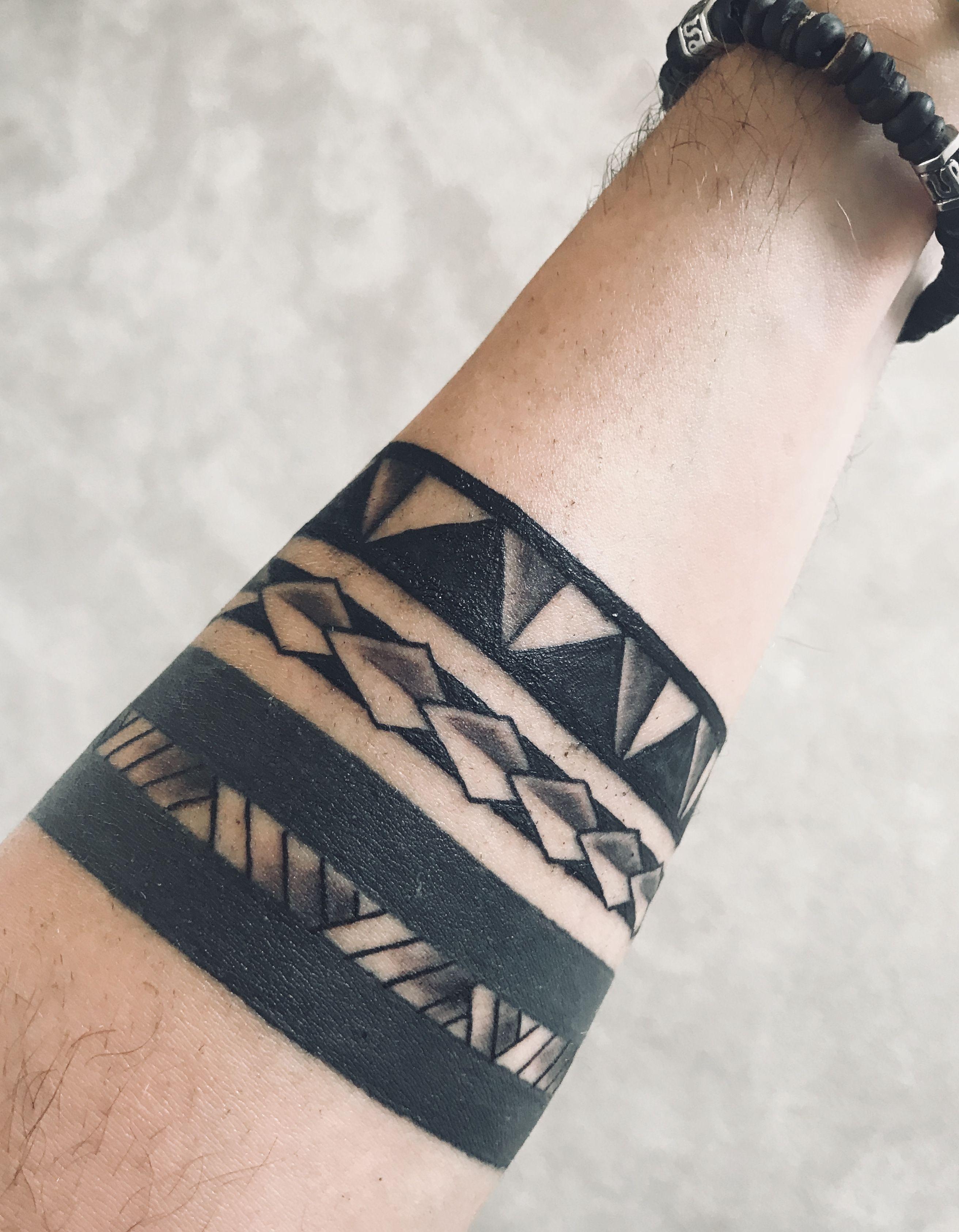 Polynesian Armband Tattoo Stencil : polynesian, armband, tattoo, stencil, Wristband, Maori, Tattoo, Design
