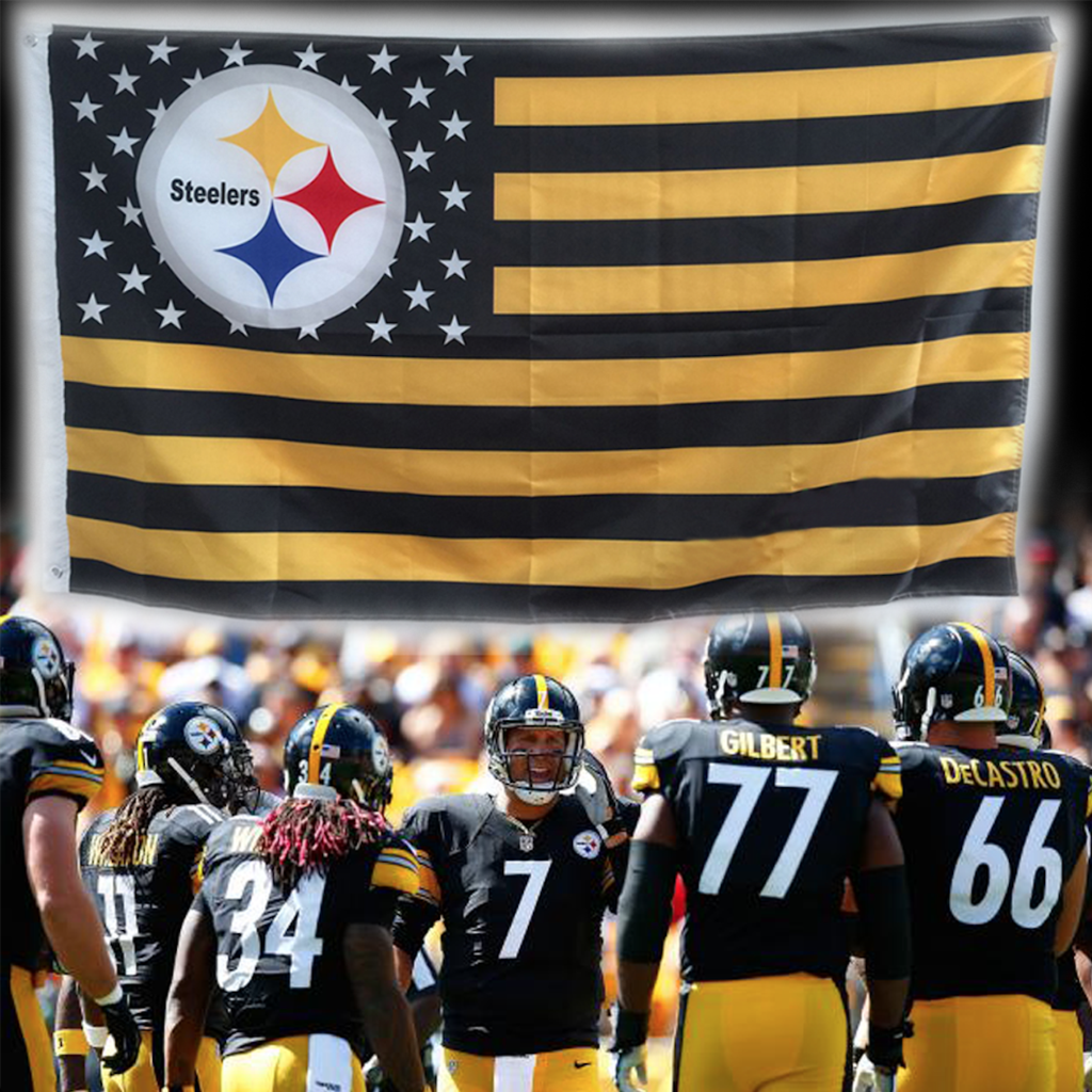 The Steelers flag is top quality\
