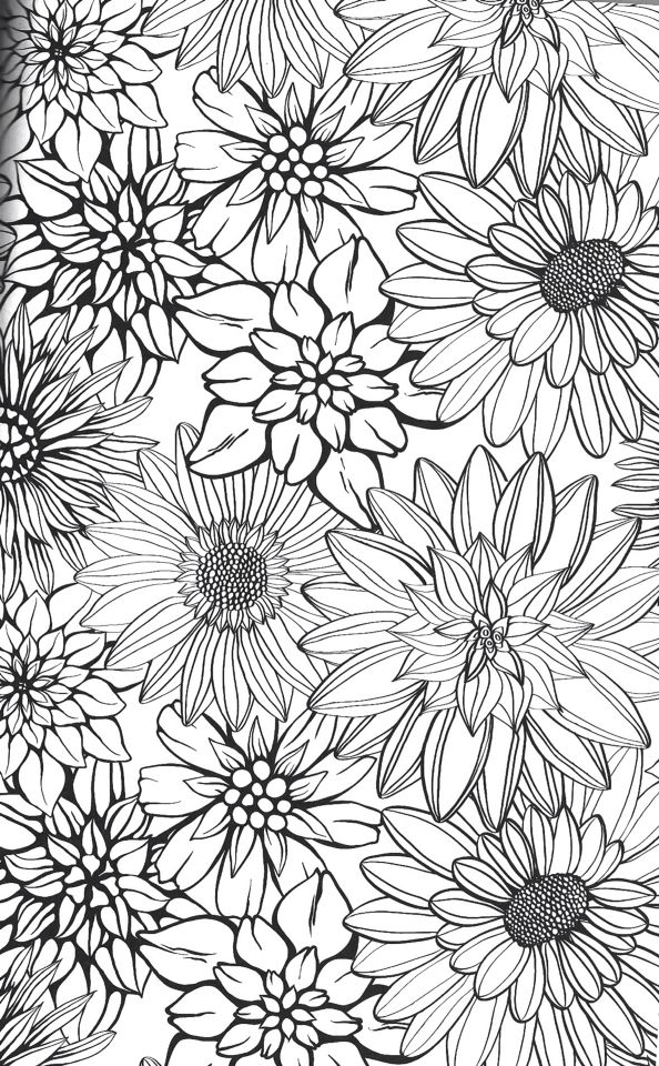 Kleurplaten Wilde Bloemen.Drawing Flowers Tekenen Colores Disenos De Unas En Bordado