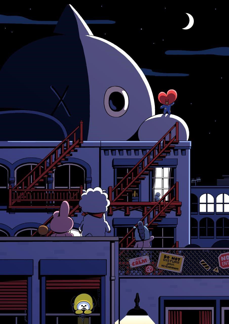 Good night~  BT21  우주스타  슈퍼스타  SUPERSTAR  UNIVERSTAR  TATA  RJ  COOKY   SHOOKY  MANG  KOYA  CHIMMY  VAN  CreatedbyBTS 5d5d51c1eeb8