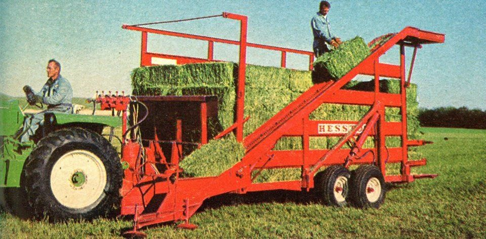 Hesston Bale Wagon Farm Machinery