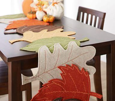 Felt Leaf Thanksgiving Table Runner Thanksgiving Table Runner Thanksgiving Table Decorations Thanksgiving Kids Table