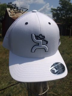 White trucker Features HOOey Golf Man design in white outlined in black  Back of the cap is white mesh Right side of the hat HOOey embroidered in  black White ... dbeb63aece7
