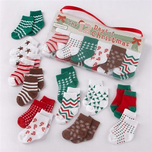 The 12 Days Of Christmas Holiday Baby Socks Set Baby Socks Gift Set Baby Socks Gift Holiday Baby