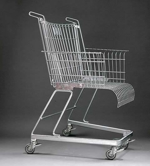 frank schreiner 39 s shopping cart chair kreative wohnideen produktdesign und selfmade. Black Bedroom Furniture Sets. Home Design Ideas