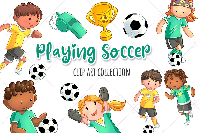 Kids Playing Soccer Graphic By Keepinitkawaiidesign
