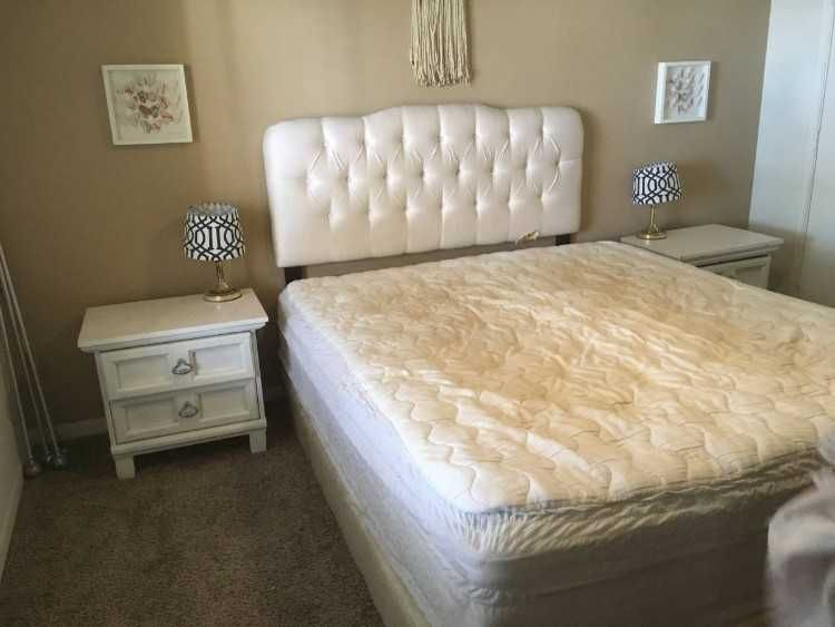 Very Nice White Color Set Includes Cal King Pillow Top Mattress