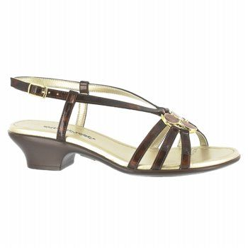 Easy Street Trifecta Shoes (Tortoise Patent) - Women's Shoes - D