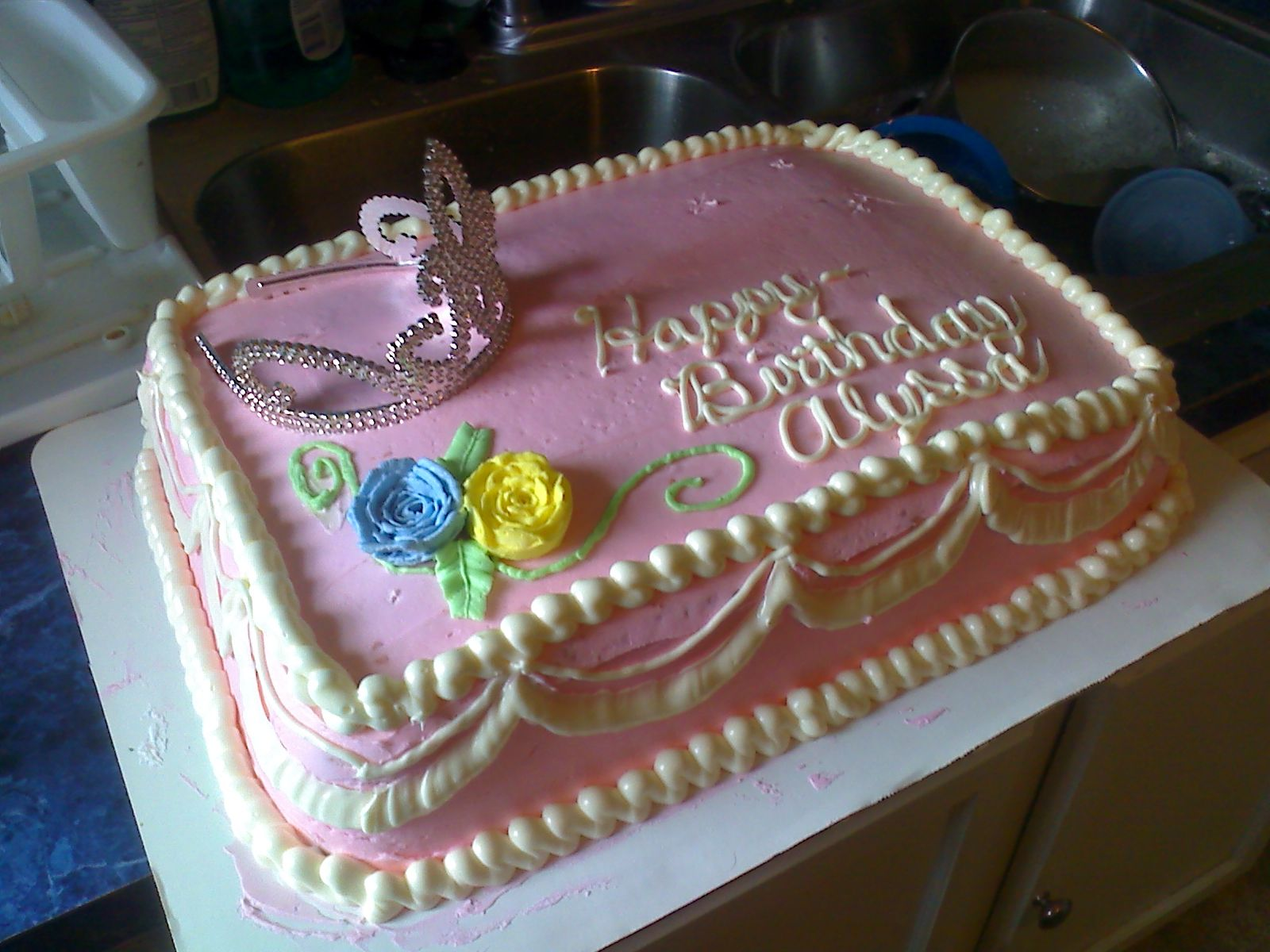One Of My First Cakes Princess Cake Single Layer Chocolate