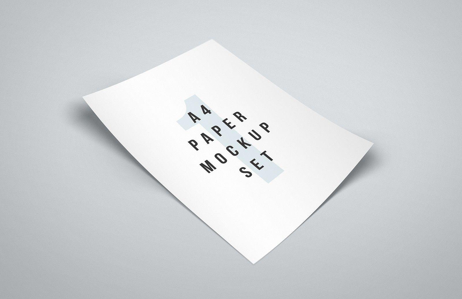 Free A4 Paper Mockup Set Paper Mockup Paper A4 Paper