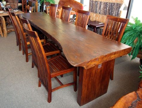 Mango Wood Indian Indonesian Long Dining Table