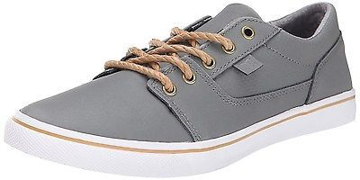 D C TONIK W XE WOMENS GRAY LEATHER LACE UP SNEAKERS SHOES 7.5 M US
