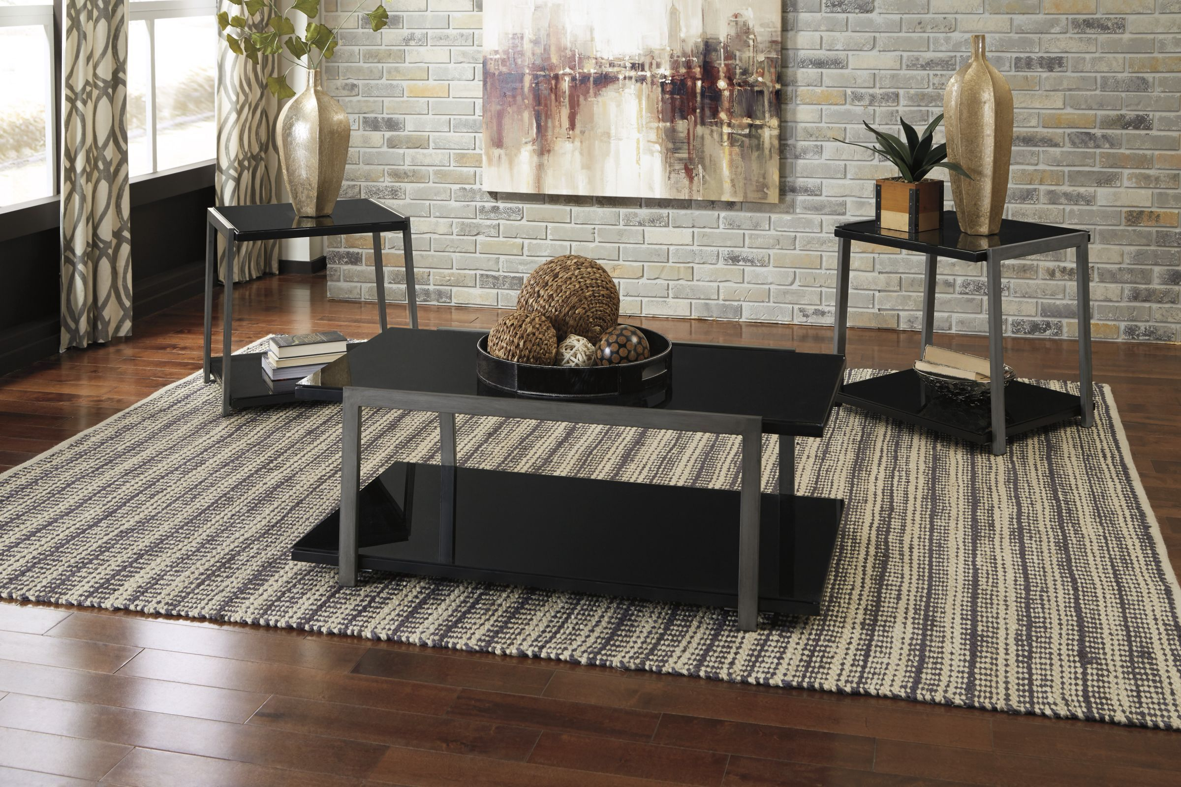 Rollynx Occasional Table Set Of 3 By Ashley In 2020 Living Room
