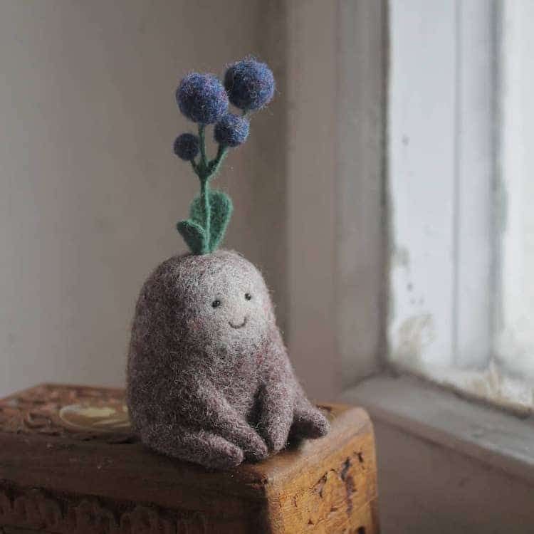Adorable Wool-Felted Creatures Look Like They Belong in a Magical Woodland