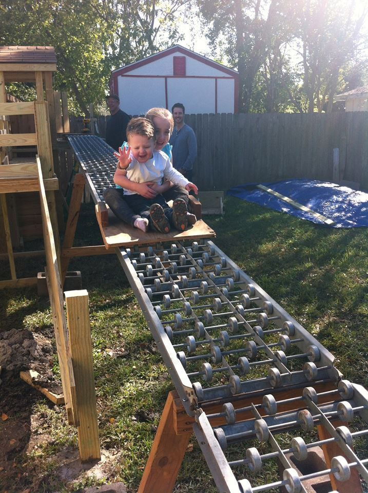 """So cool! A DIY """"rollercoaster"""" in your own backyard ..."""