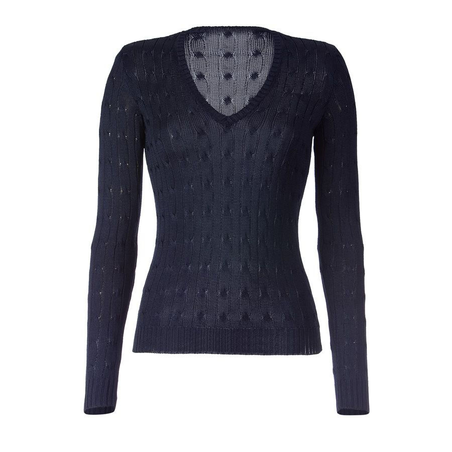 sweater fashion | ... Look Of Navy Blue Sweater – Ladies Outfit ...