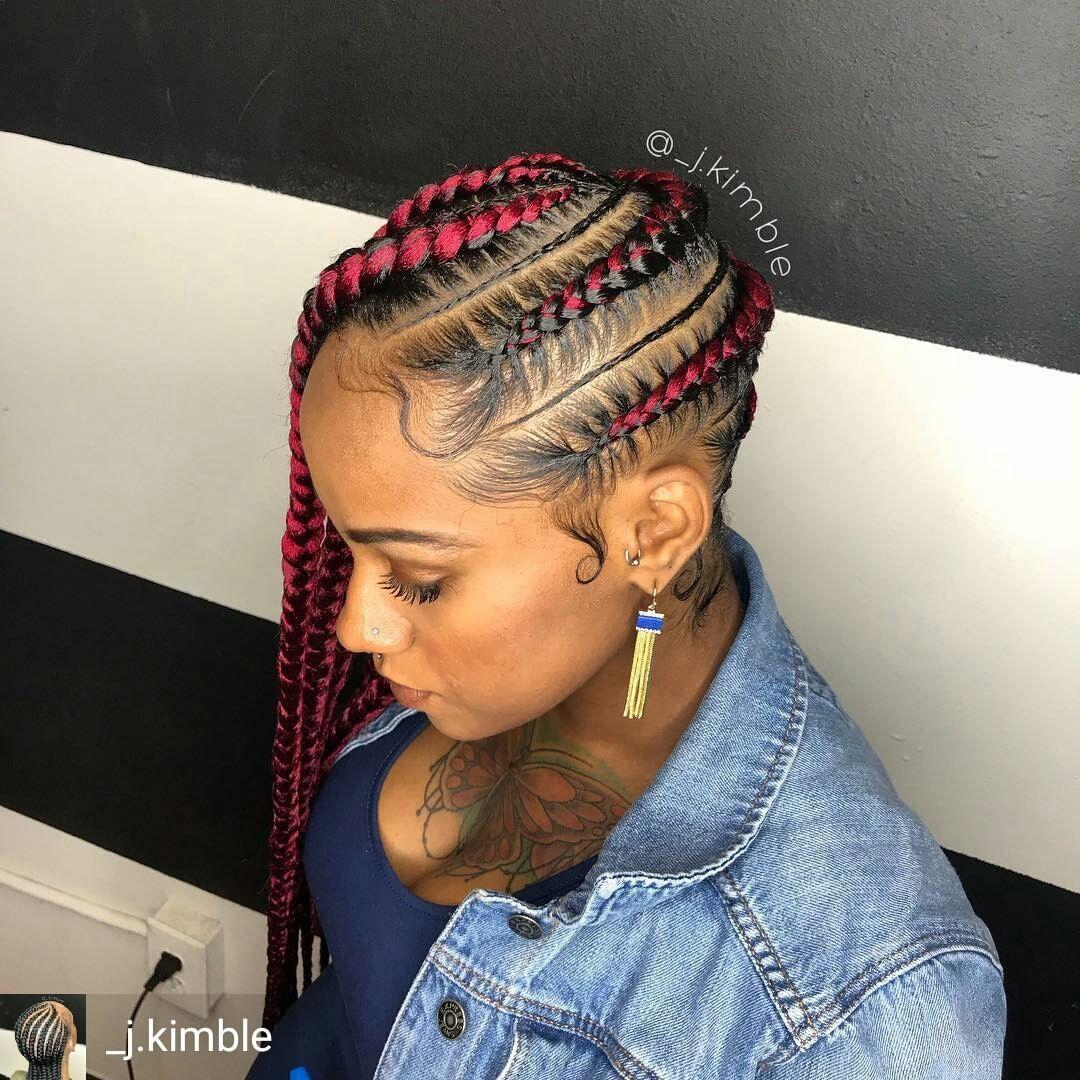 Credit To J Kimble Feedinbraids Feedincornrows Braids Cornrow Lemonade Braids Hairstyles Box Braids Hairstyles For Black Women Girls Hairstyles Braids