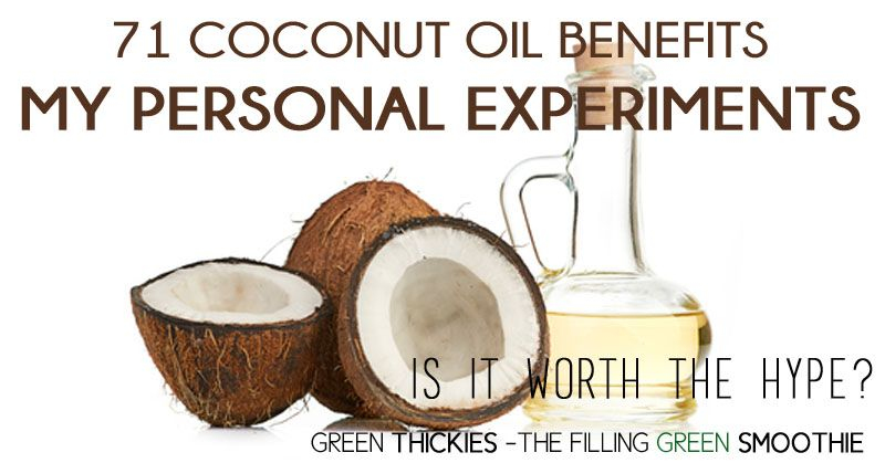 Here are 71 amazing Coconut Oil benefits. Find out the pros and cons during my personal experiments with coconut oil and how to use it..