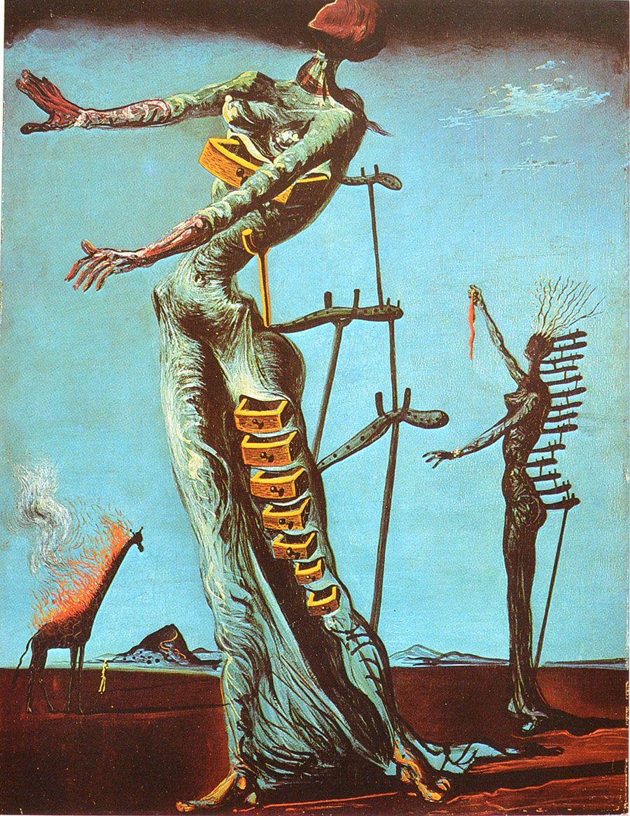 dali Jirafa en llamas | Dalí (pintor español 1904-1989) | Pinterest ...
