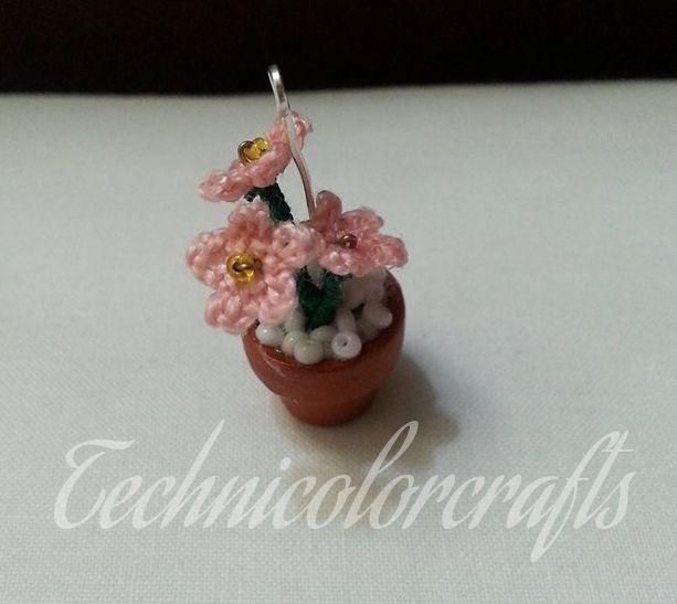 Miniature Crochet Flower