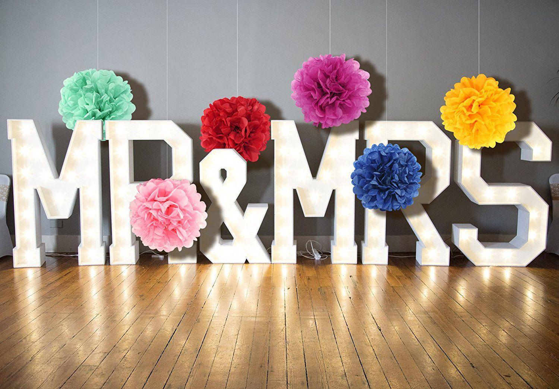 Diferentes Colores Flores de Papel para Decoraciones Elegantes de Bodas Baby Showers Coches de Boda Fiestas Cumplea/ños YOKARTA 12x Pompones de Papel de Seda Decorativos rojo /ø 20 cm