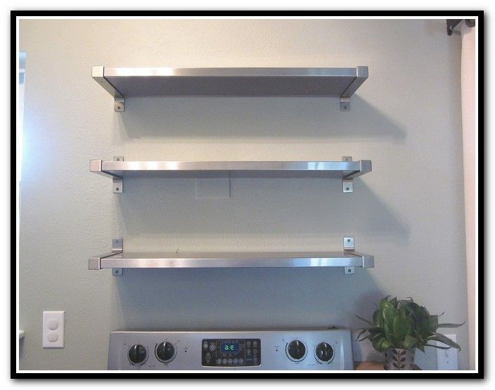 Stainless Floating Shelves Magnificent Lowesstainlesssteelshelvesstainlesssteelfloatingshelvesikea Decorating Inspiration
